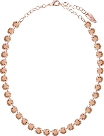 Klassik Collier medium mit 9mm Chatons rosé vergoldet – Bild 3