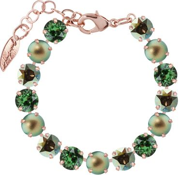 Classical bracelet with 9mm Swarovski chatons, mixed colors, rosegold plated – Bild 11