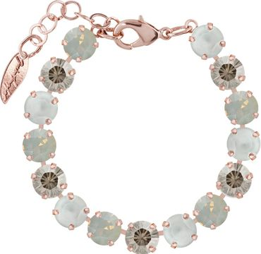 Classical bracelet with 9mm Swarovski chatons, mixed colors, rosegold plated – Bild 7