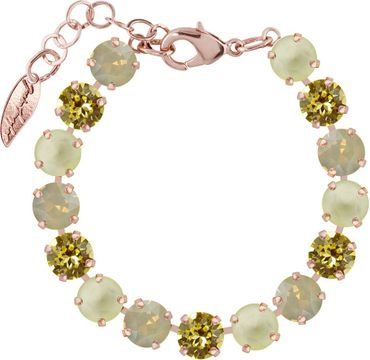 Classical bracelet with 9mm Swarovski chatons, mixed colors, rosegold plated – Bild 9
