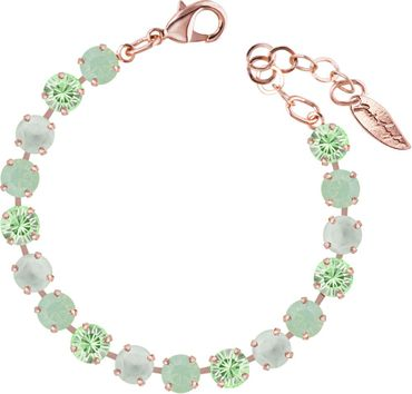 Classical bracelet with 6mm Swarovski chatons, mixed colors, rosegold plated – Bild 3