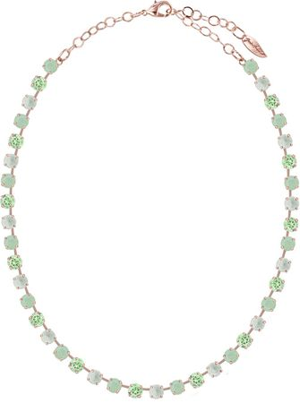 short necklace with 6mm Swarovski chaton crystals, rosegold plated, mixed colours – Bild 17