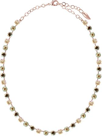 short necklace with 6mm Swarovski chaton crystals, rosegold plated, mixed colours – Bild 11