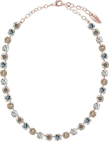 classical short necklace with 9mm Swarovski chaton crystals, rosegold plated, mixed colours – Bild 13