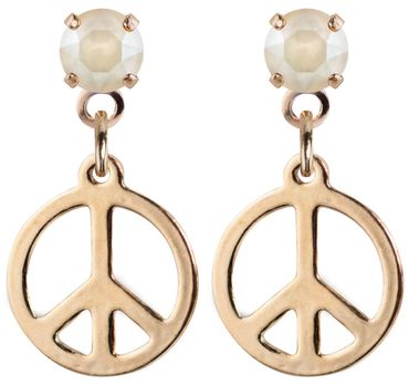 earpost with pending peace symbol, rose gold plated – Bild 5