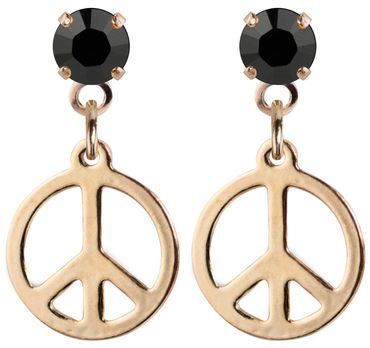 earpost with pending peace symbol, rose gold plated – Bild 6