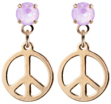 earpost with pending peace symbol, rose gold plated – Bild 21