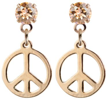 earpost with pending peace symbol, rose gold plated – Bild 8