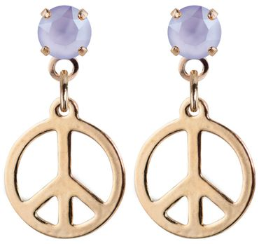 earpost with pending peace symbol, rose gold plated – Bild 20