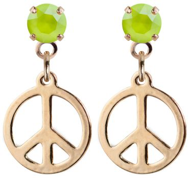 earpost with pending peace symbol, rose gold plated – Bild 11