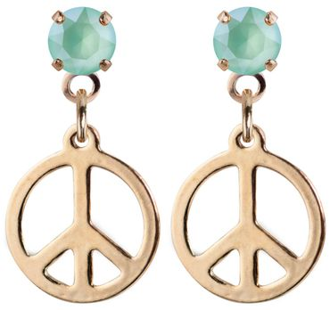 earpost with pending peace symbol, rose gold plated – Bild 12