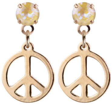earpost with pending peace symbol, rose gold plated – Bild 22