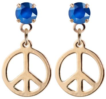 earpost with pending peace symbol, rose gold plated – Bild 19