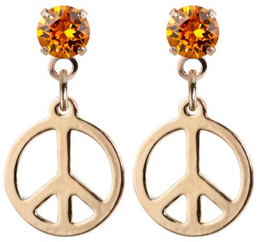 earpost with pending peace symbol, rose gold plated – Bild 17