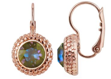 Earring with 6mm Swarovski Chaton, rosegold plated – Bild 2