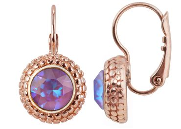 Earring with 6mm Swarovski Chaton, rosegold plated – Bild 18