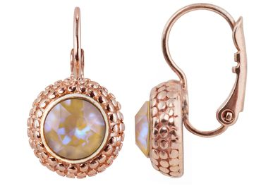 Earring with 6mm Swarovski Chaton, rosegold plated – Bild 5