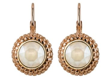 Earring with 6mm Swarovski Chaton, rosegold plated – Bild 6