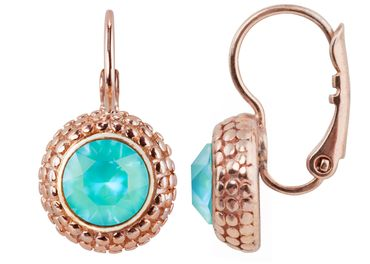 Earring with 6mm Swarovski Chaton, rosegold plated – Bild 10