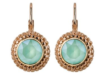 Earring with 6mm Swarovski Chaton, rosegold plated – Bild 15