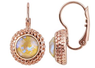Earring with 6mm Swarovski Chaton, rosegold plated – Bild 4