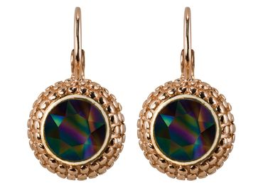 Earring with 6mm Swarovski Chaton, rosegold plated – Bild 24