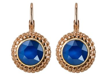 Earring with 6mm Swarovski Chaton, rosegold plated – Bild 11