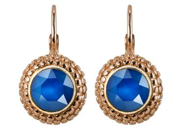 Earring with 6mm Swarovski Chaton, rosegold plated – Bild 17