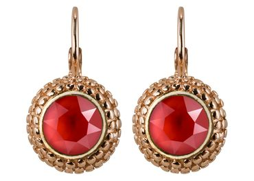 Earring with 6mm Swarovski Chaton, rosegold plated – Bild 13