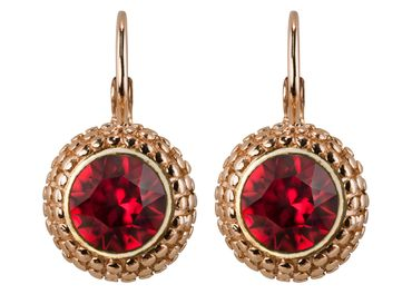 Earring with 6mm Swarovski Chaton, rosegold plated – Bild 1