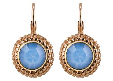 Earring with 6mm Swarovski Chaton, rosegold plated – Bild 14