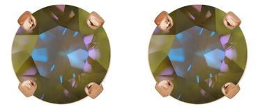 Classical stud with Swarovski Chaton crystal 9mm, rosegold plated – Bild 8