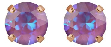 Classical stud with Swarovski Chaton crystal 9mm, rosegold plated – Bild 7