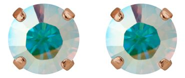 Classical stud with Swarovski Chaton crystal 9mm, rosegold plated – Bild 13