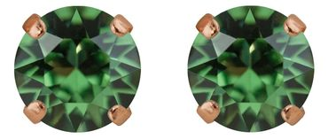 Classical stud with Swarovski Chaton crystal 9mm, rosegold plated – Bild 15
