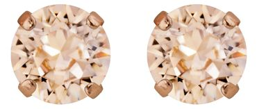 Classical stud with Swarovski Chaton crystal 9mm, rosegold plated – Bild 12