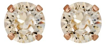 Classical stud with Swarovski Chaton crystal 9mm, rosegold plated – Bild 19