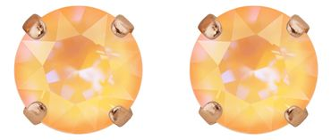 Classical stud with Swarovski Chaton crystal 9mm, rosegold plated – Bild 1
