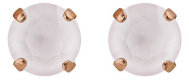 Classical stud with Swarovski Chaton crystal 9mm, rosegold plated – Bild 14