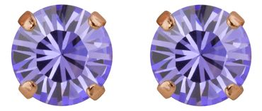 Classical stud with Swarovski Chaton crystal 9mm, rosegold plated – Bild 18