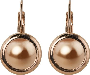 Casted earring,  rosegold plated - with a 10mm Swarovski pearl cabuchon – Bild 10