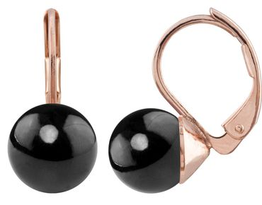 Pearl-earring with 8mm Swarovki Pearl, rosegold plated – Bild 22