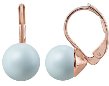 Pearl-earring with 8mm Swarovki Pearl, rosegold plated – Bild 9