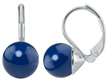 Pearl-Earring with 8mm Swarovsky Pearl, silver plated – Bild 16