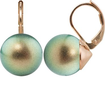 Pearl-earring with 12mm Swarovki Pearl, rosegold plated – Bild 3