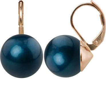 Pearl-earring with 12mm Swarovki Pearl, rosegold plated – Bild 4