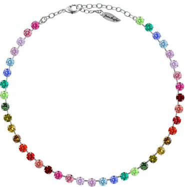 Klassik Collier Small 6mm Chatons Farbmix – Bild 5