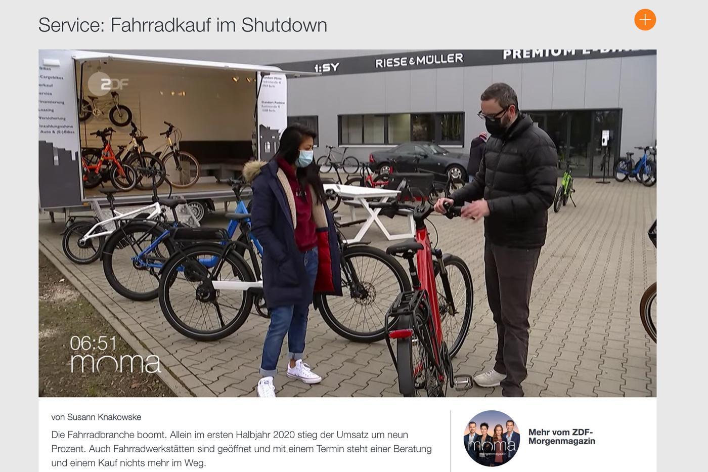 ZDF Fahrradkauf