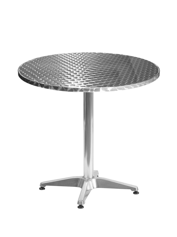 Gartentisch Bistrotisch Aluminium 80 x 70 cm