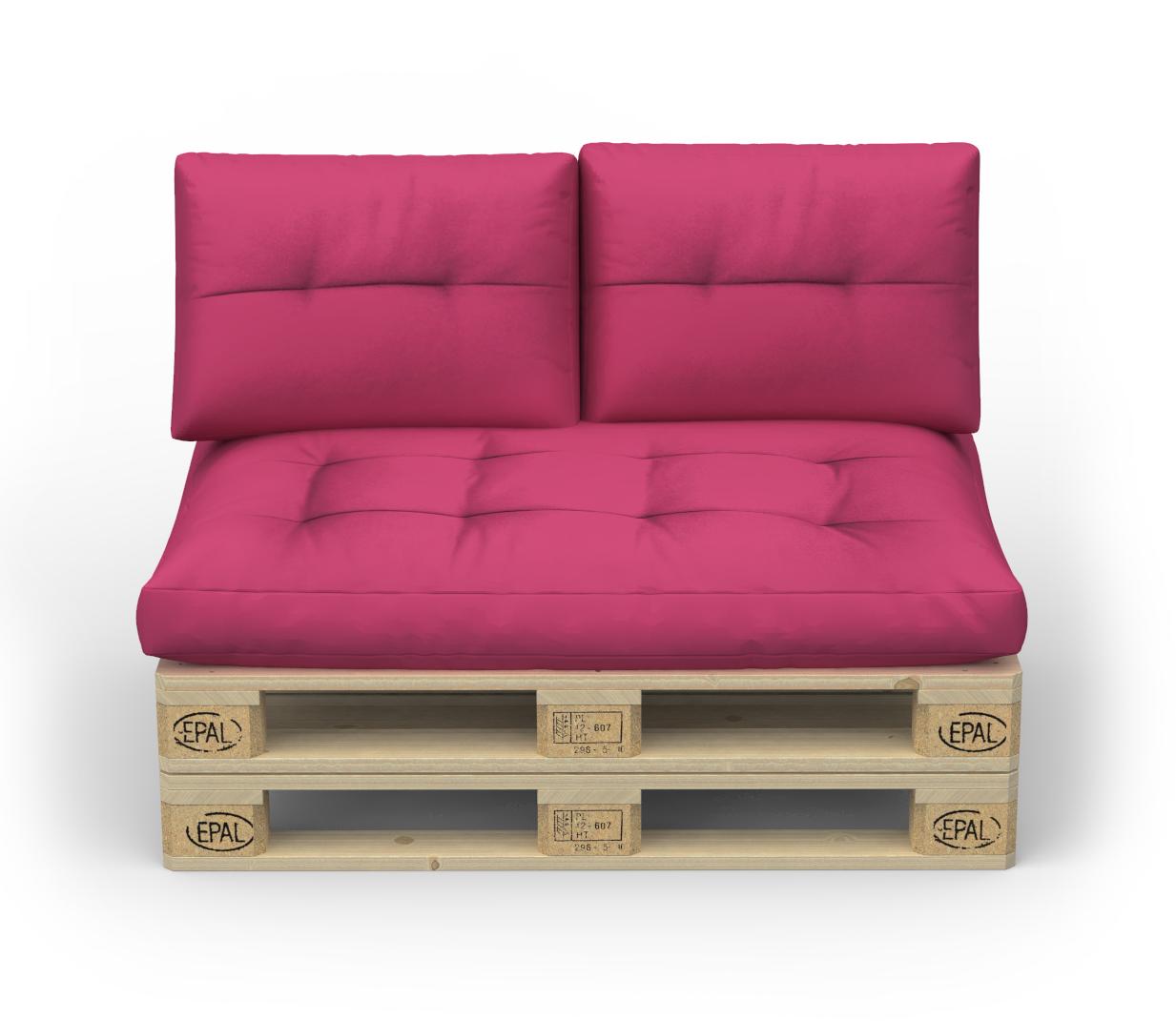 Palettenlounge MELIDE inkl. Kissen pink